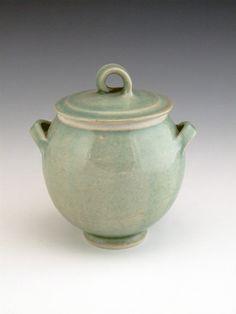Porcelain Celadon Lidded Pot By Amanda Brier by amandabrier, £50.00