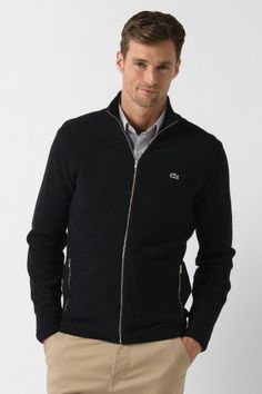 Lacoste - Full Zip Pique Stitch Sweater