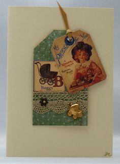 Handmade Card - Vintage Baby £2.50