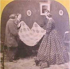 civil war era photo with quilt from barbara brackman's civil war quilts (reproduction quilts & fabric)