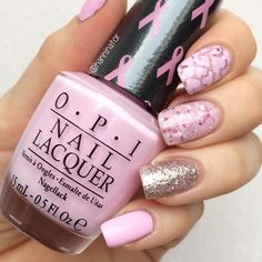 Lovely nails for pink October and breast cancer awareness month.