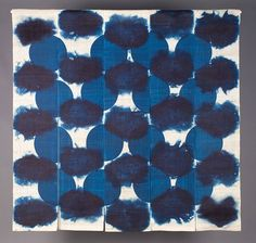 "Untitled Noren Partition 24 / indigo dyed hemp kibira, katazome 60"" x 60"" 2009"