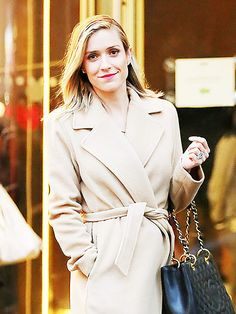 Meanwhile, her fellow MTV alum Kristin Cavallari looks primped and polished in pink lips and a Chanel bag while shopping in New York City on Thursday.
