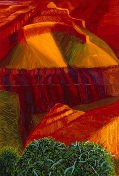 David Hockney RA, Double Study for 'A Closer Grand Canyon', 1998 Photo: Royal Academy David Hockney Artist, David Hockney Paintings, Robert Rauschenberg, Edward Hopper, Pop Art Movement, Royal Academy Of Arts, Irish Art, Portraits, Rouge