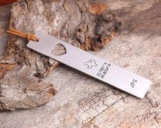 Personalized Bookmark   Latitude Longitude by aimeehandmade