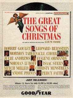 Goodyear Great Songs of Christmas CD, Album, Record | CHRISTMAS ...
