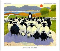thomas joseph paintings of sheeps Farm Animals, Animals And Pets, Cute Animals, Illustrations, Illustration Art, Wooly Bully, Baa Baa Black Sheep, Art Thomas, Sheep Art