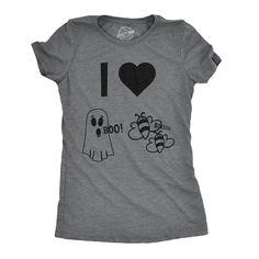 I Heart Boo Bees Women s Tshirt. Funny Shirts ... 85efa5707