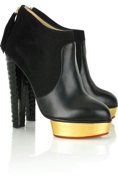 5e4db4e6088 The Charlotte Olympia Ziggy leather ankle boots Black Leather Ankle Boots