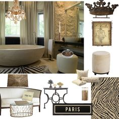 "Imagine ""feeling"" like you are in Paris...create this look in your own ""spa bath and bedroom"""