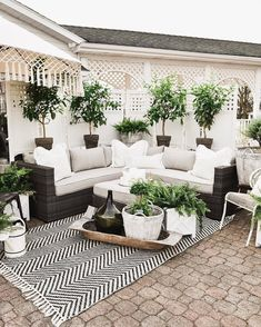outdoor rooms So it's been about a week since I announced the reveal of our back patio makeover over on the Home Depot website. Back Patio, Backyard Patio, Backyard Landscaping, Landscaping Ideas, Patio Set Up, Cozy Patio, Modern Backyard, Shed Design, Patio Design
