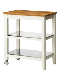 Simple with a natural wood top make the STENSTORP kitchen cart evokes a warm summery feel.
