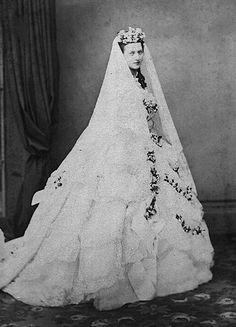 Queen Alexandra in her wedding dress.