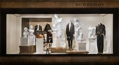 """BURBERRY, New York, """"The sculptor produces the beautiful statue by chipping away such parts of the marble block as are not needed - it is a process of elimination"""",  pinned by Ton van der Veer"""
