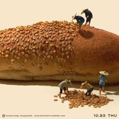 """. 10.23 thu """"Harvest"""" . 個人的にこういうつぶつぶな見た目の食べ物が苦手です。 というわけでゴマ全部撤収! ※苦手な方は閲覧注意 . . #集合体恐怖症 #このあとおいしくいただきました"""
