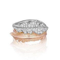 "Mimi So ""Phoenix"" 18k White Gold & Pavé Diamond Ring"
