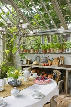 Amazing Shed Plans - Sunroom/greenhouse. - Now You Can Build ANY Shed In A Weekend Even If You've Zero Woodworking Experience! Start building amazing sheds the easier way with a collection of shed plans! Greenhouse Shed, Greenhouse Gardening, Indoor Greenhouse, Greenhouse Kitchen, Greenhouse Wedding, Cheap Greenhouse, Winter Greenhouse, Homemade Greenhouse, Portable Greenhouse