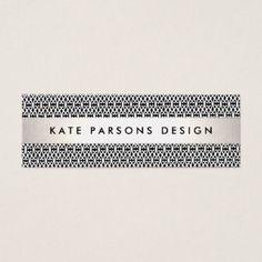 Modelo blanco y negro moderno del diseñador tarjeta de visita pequeña