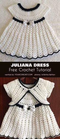 47 Ideas baby girl crochet dress robes for 2019 Crochet Pattern Free, Crochet Gratis, Crochet Patterns, Tutorial Crochet, Knitting Patterns, Crochet Dress Girl, Baby Girl Crochet, Crochet For Kids, Crochet Top