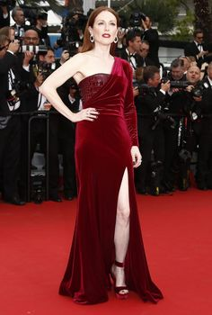 """Julianne Moore in a Givenchy gown at the Cannes Film Festival screening of """"Mad Max."""" (Photo: Ian Langsdon/European Pressphoto Agency)"""