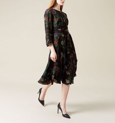 Limited EditionPart of our Palace Collection the vibrant botanical print on this silk rich dress has been inspired by the sunken… Shop> Occasion Dresses, Modest Fashion, Cover Up, Cold Shoulder Dress, Women Wear, Neckline, Victoria, Romantic, Silk