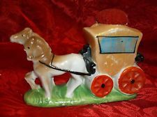 Vintage Made In Japan Stagecoach And Horses Pin Cushion