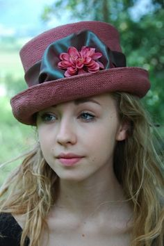 plum colored hat by FINKAMENDOCINO #millinery #hats #HatAcademy