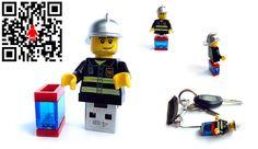 4GB USB Flash Drive in a original Lego Minifigure by databrick, $39.95