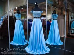Look like a princess in this sweet sky blue chiffon evening gown. The high beaded neckline and illusion back give this dress such an elegant look! So pretty and it's at Rsvp Prom and Pageant, your source for the hottest 2016 Prom Dresses! Pretty Prom Dresses, Prom Dresses 2016, Blue Evening Dresses, Cheap Prom Dresses, Pageant Dresses, Quinceanera Dresses, Evening Gowns, Aqua Dresses, Quinceanera Ideas