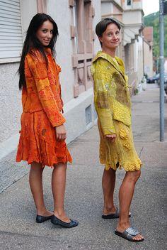 L orange und gelb by gaja-filzdesign, via Flickr