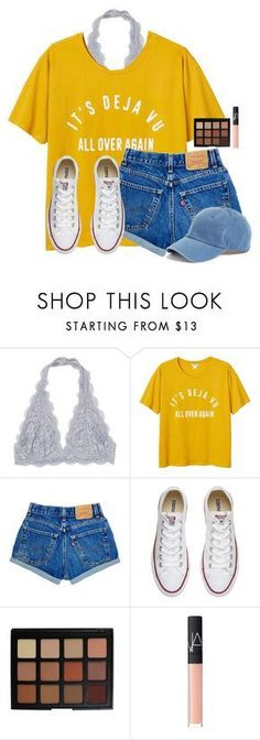 """Last day of Spring Break"" by victoriaann34 on Polyvore featuring Monki, Converse, Morphe, NARS Cosmetics and American Needle"