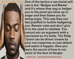 Narcissistic Abuse Tactic: Badger and Blame