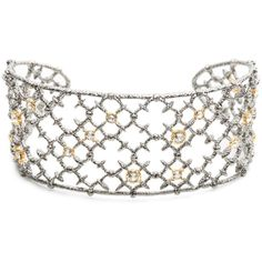 Alexis Bittar Gunmetal Crystal Studded Spur Lace Cuff (€170) ❤ liked on Polyvore featuring jewelry, bracelets, lace bracelet, punk bracelet, lace jewelry, bracelet bangle and alexis bittar bracelet