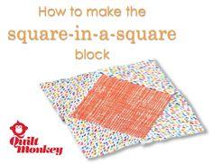Square-in-a-Square Quilt Block Tutorial