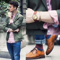 Marc By Marc Jacobs Blazer, Marc By Marc Jacobs Shirt, H&M Jeans, Aldo Shoes, Casio Watch, Giles & Brother Bracelet