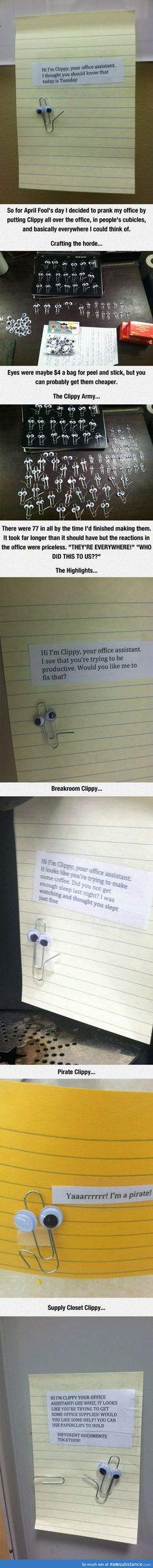 Clippy April Fools Prank