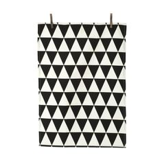 Ferm Living Triangle Tea Towel - Black