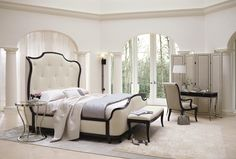 Bernhardt Miramont Customizable King Upholstered Sleigh Bed with Button Tufted Headboard - Wayside Furniture - Upholstered Bed Akron, Cleveland, Canton, Medina, Youngstown, Ohio