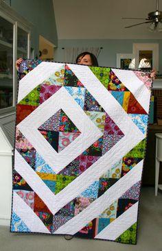 tada! throw quilt is done | mmmcrafts.blogspot.com/2015/02/l… | Flickr