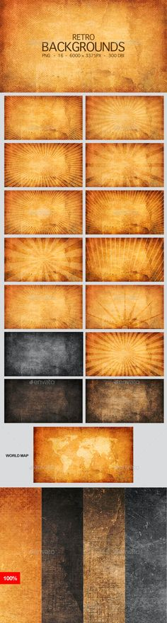 Retro & vintage High Resolution Backgrounds by AstroBot | GraphicRiver High Resolution Backgrounds, Retro Background, Background Images Wallpapers, Resolutions, Retro Vintage, In This Moment