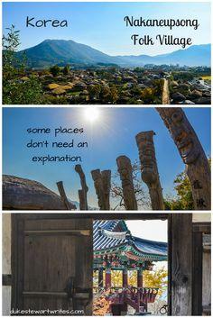 In Korea, some things don't need an explanation.  -Nakaneupsong Folk Village