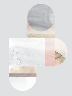 Print, Lene Nørgaard, Stone, Light Grey