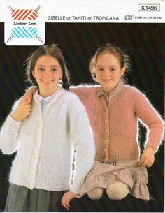 "girls mohair cardigan childrens mohair cardigan button through 24-34"" mohair DK light worsted 8 ply childrens knitting pattern pdf download by Minihobo on Etsy"