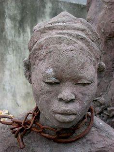 Statue of the Slavery monument in Zanzibar Stone Town, Tanzania