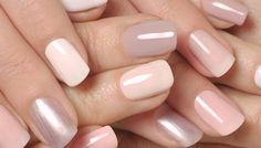 schöne dezente nägel, ton in ton, rosa flieder pastell