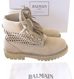 305e757ef7 Balmain Army Military Bootie Boot Beige Boots Beige Boots, Suede Boots,  Bootie Boots,