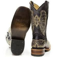 Made with genuine fine black leather, these Corrals are overlain with gold and…