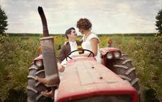 Wedding photo on tractor.. yes please
