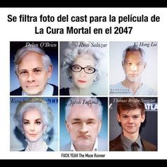 The Maze Runner cast in 2047.. Yep, Tommy has found The bloody fountain of youth.