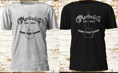 New Rare Martin & Co Guitar Classic Black White Tshirt for Gift Size S-5XL #GildanFruitTheLoom #GraphicTee
